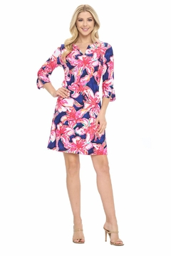 Aryeh Navy Floral Shift Dress - Product List Image