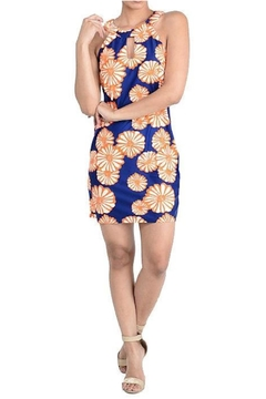 Shoptiques Product: Navy Printed Dress