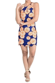 Aryeh Navy Printed Dress - Product Mini Image