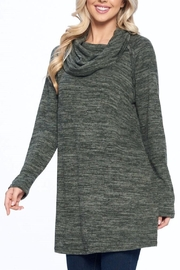 Aryeh Olive Cowl Neck Tunic - Side cropped