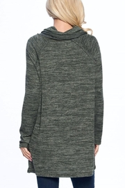 Aryeh Olive Cowl Neck Tunic - Back cropped
