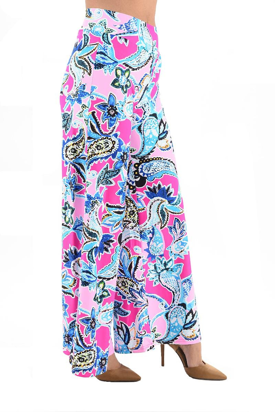 Aryeh Paisley Palazzo Pant - Side Cropped Image