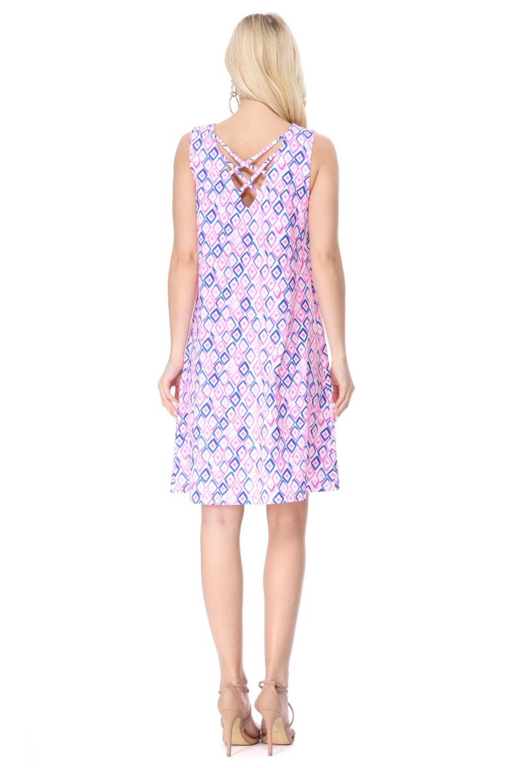 Aryeh Pink Back Crisscross Dress - Side Cropped Image