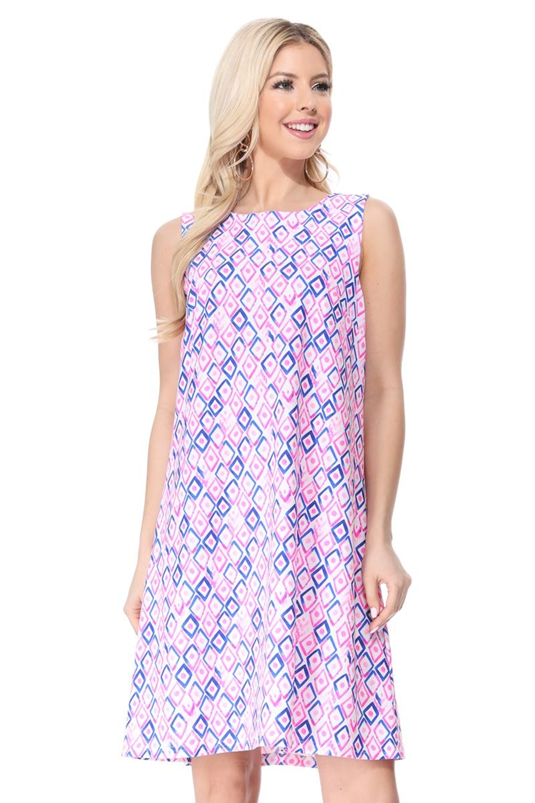 Aryeh Pink Back Crisscross Dress - Front Full Image