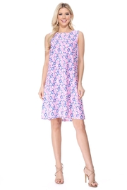 Aryeh Pink Back Crisscross Dress - Front cropped