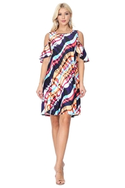 Aryeh Pink Cold Shoulder Dress - Product Mini Image