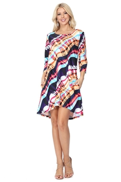 Aryeh Pink Plaid Swing Dress - Product List Image