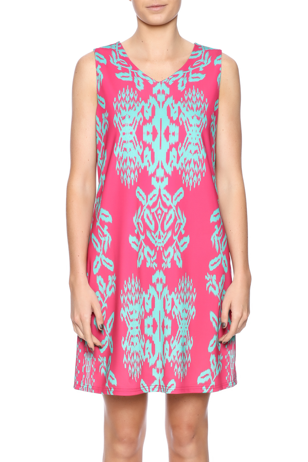 Aryeh Pretty In Pink Dress - Side Cropped Image