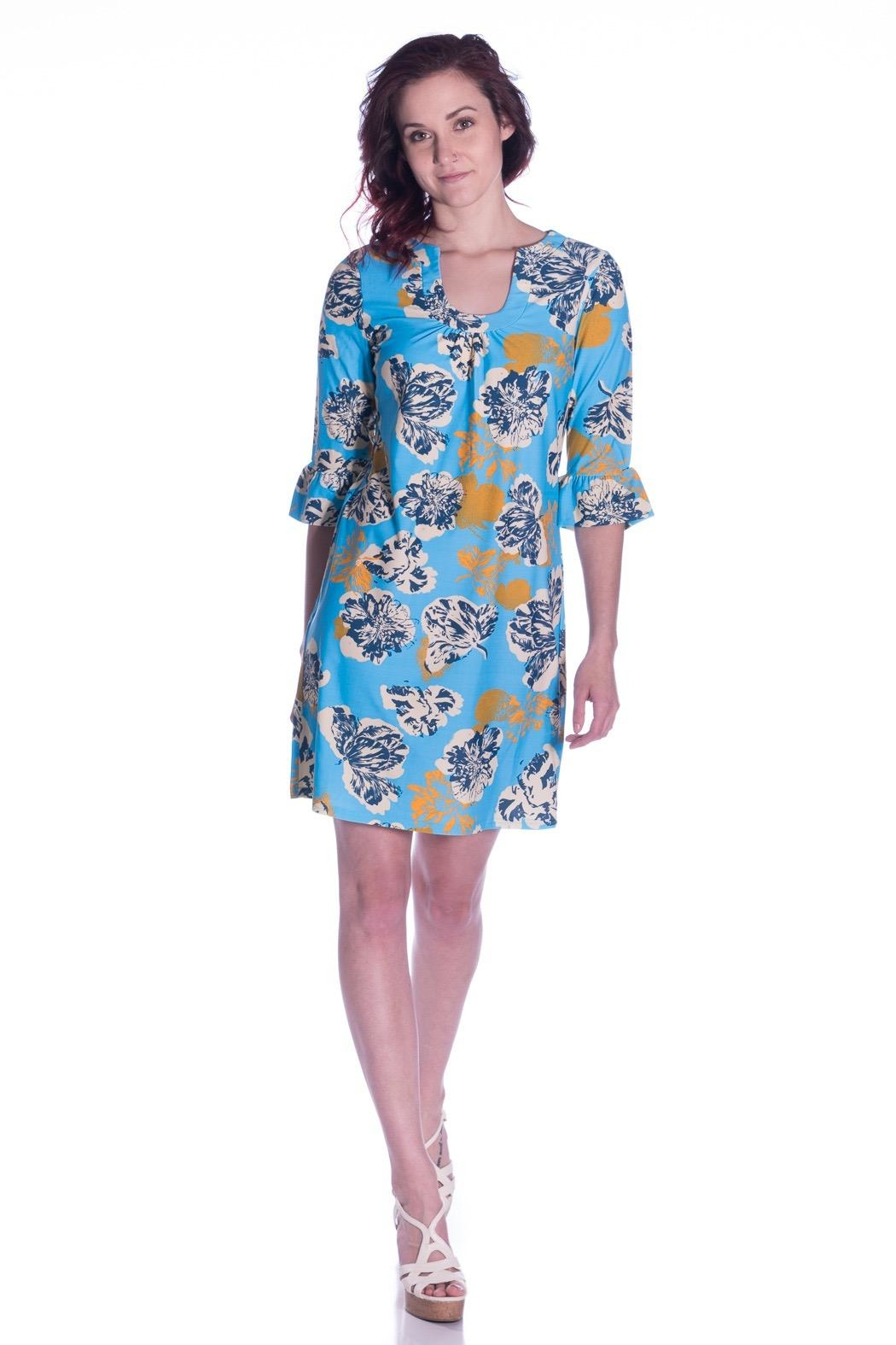 Aryeh Printed Shift Dress - Main Image