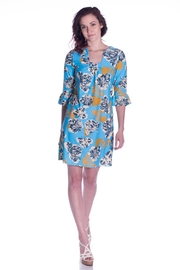 Aryeh Printed Shift Dress - Front cropped