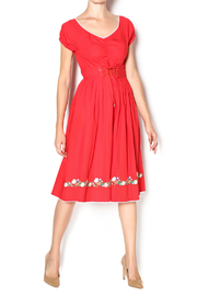 Aryeh Red Corset Waist Dress - Product Mini Image