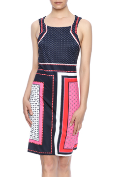 Aryeh Red Shift Dress - Product List Image