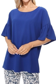 Aryeh Royal Bell Sleeve Top - Product Mini Image