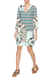 Aryeh Sage Shift Dress - Front full body