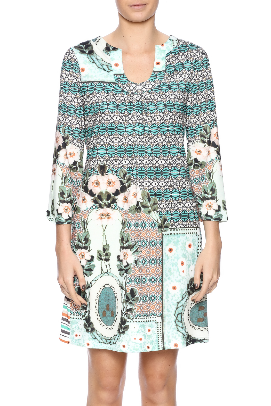 Aryeh Sage Shift Dress - Side Cropped Image