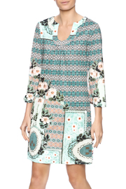Aryeh Sage Shift Dress - Product Mini Image