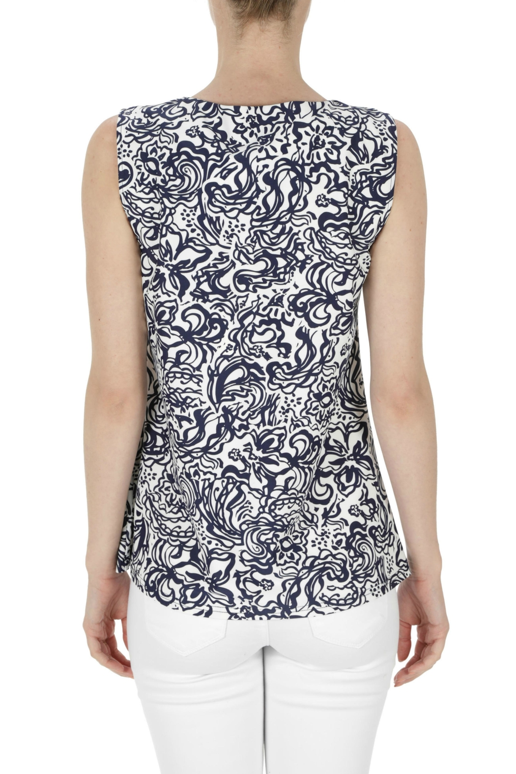 Aryeh Sleeveless Printed Top - Front Full Image