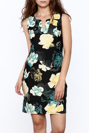 Aryeh Black Floral Sheath Dress - Product Mini Image