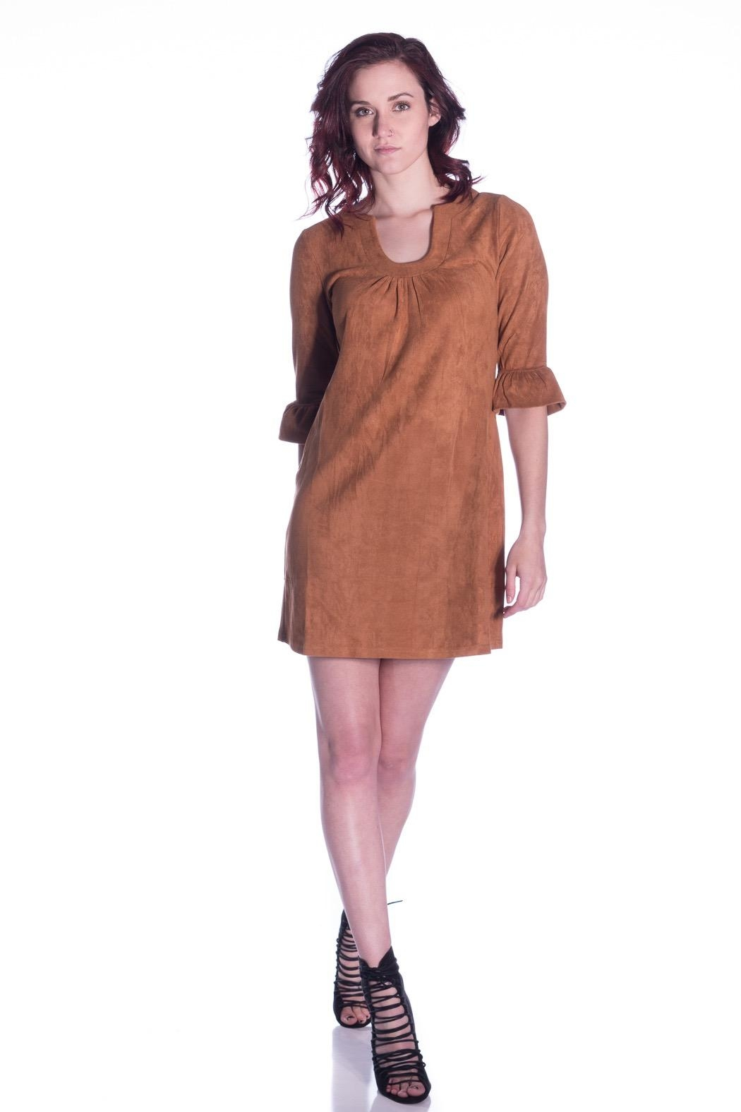 Aryeh Suede Shift Dress - Main Image