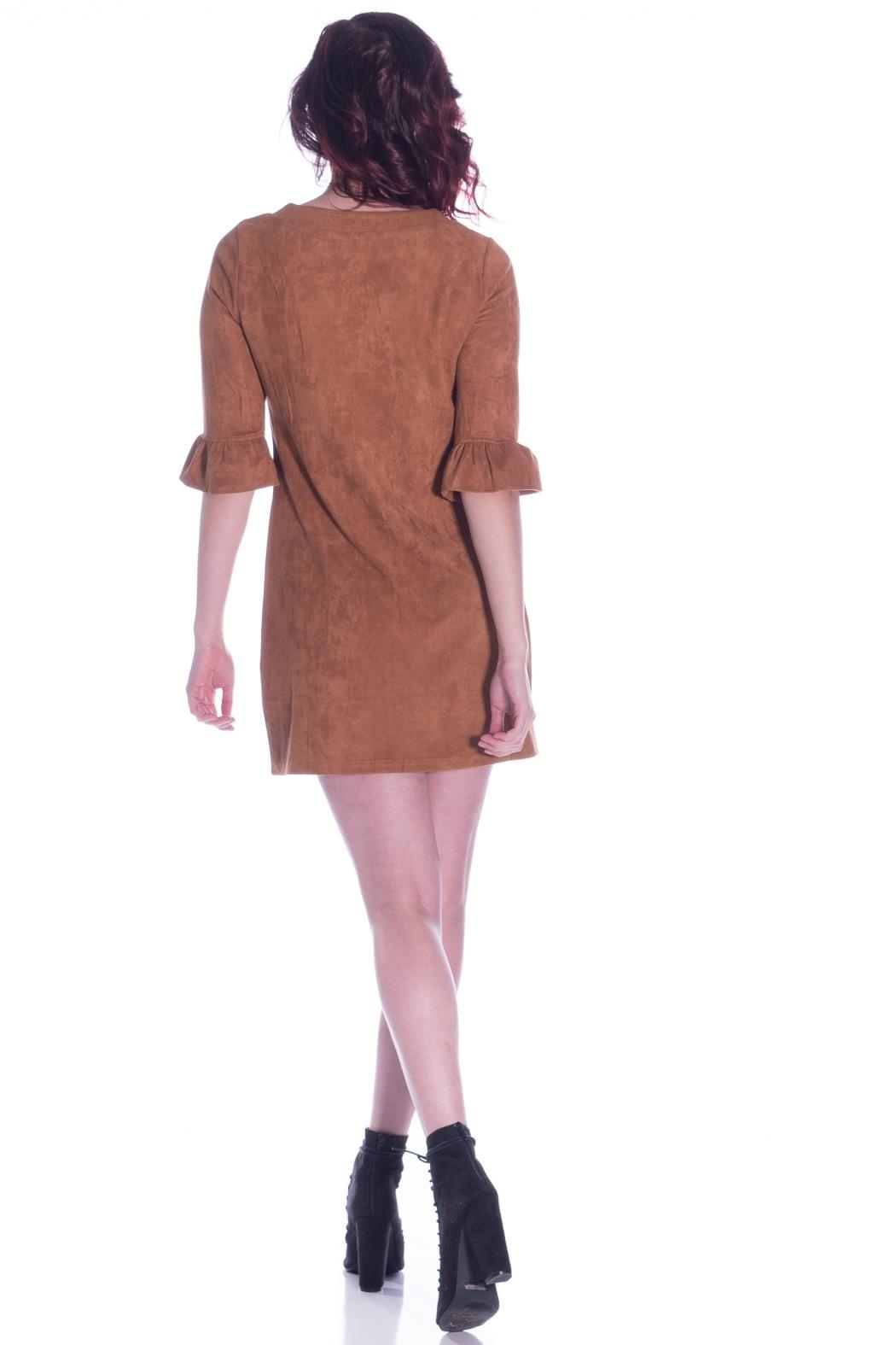 Aryeh Suede Shift Dress - Side Cropped Image