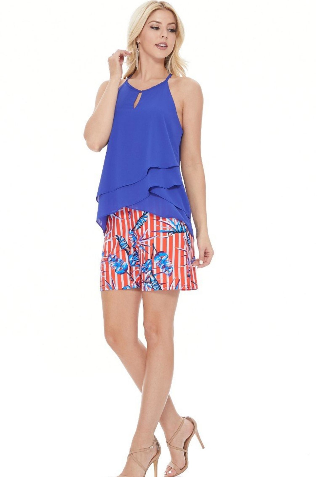 Aryeh Tropical Scarlet Shorts - Side Cropped Image