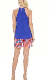 Aryeh Tropical Scarlet Shorts - Front full body