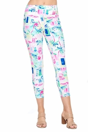 Aryeh White And Pink Cropped Leggings - Front full body
