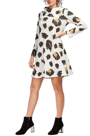 Aryeh White Cowl Neck Knit Dress - Front cropped