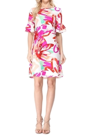 Aryeh White Floral Shift Dress - Product Mini Image