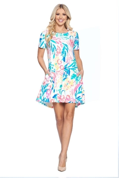 Aryeh White Floral Swing Dress - Product List Image