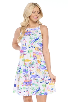 Aryeh White Halter Dress - Product List Image