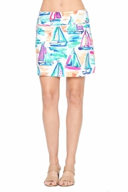 Aryeh White Sailboat Skort - Front cropped