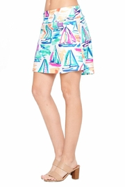 Aryeh White Sailboat Skort - Side cropped