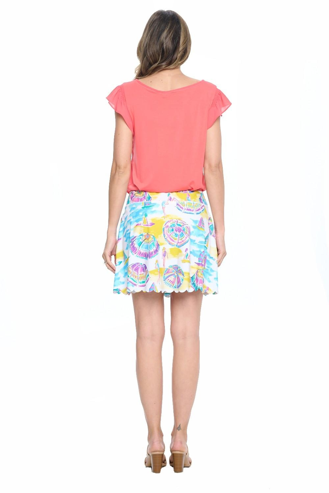 Aryeh White Scalloped Skort - Side Cropped Image