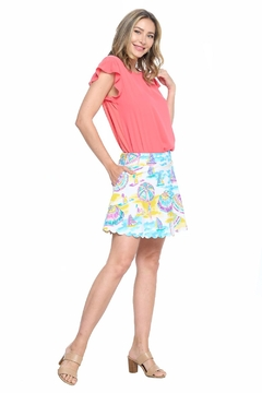 Aryeh White Scalloped Skort - Product List Image