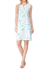 Aryeh White Split Neck Dress - Product Mini Image
