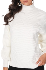 Aryeh White Turtle Neck Pullover - Side cropped