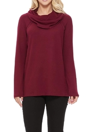 Aryeh Wine Knit Cowl Neck Top - Product Mini Image