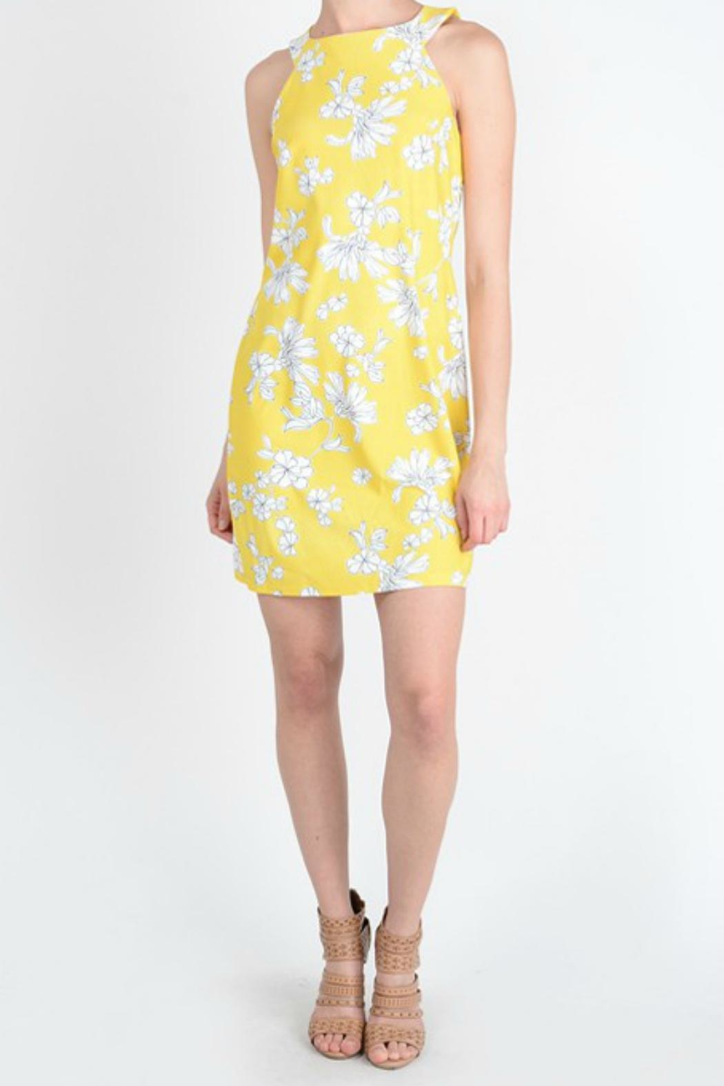 Aryeh Yellow Floral Dress - Main Image