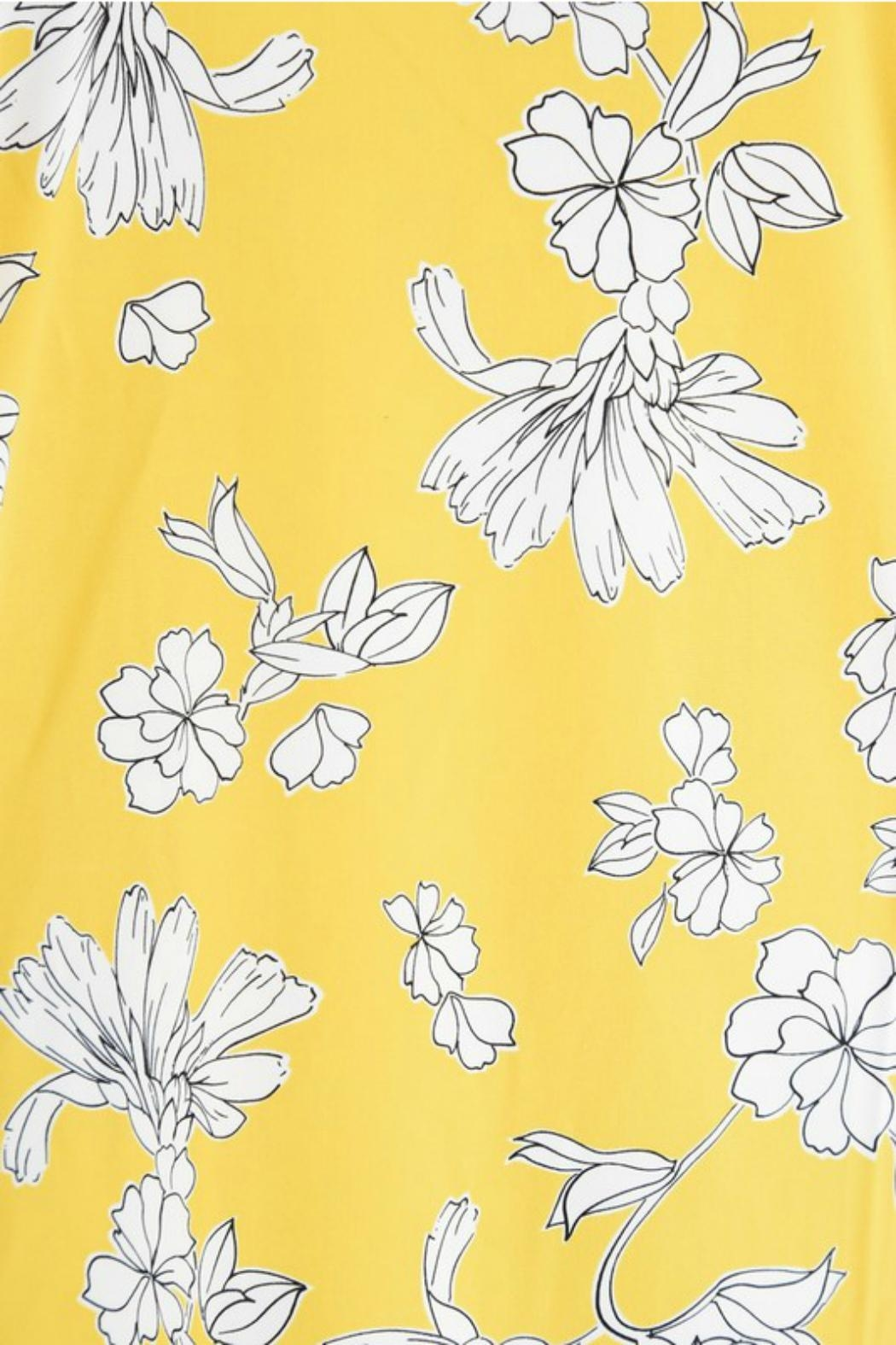 Aryeh Yellow Floral Dress - Back Cropped Image