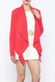 Aryn K Cropped Ruffle Light Jacket - Front cropped