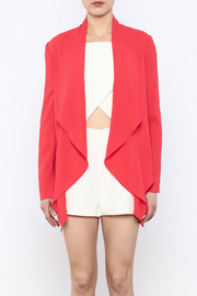 Aryn K Cropped Ruffle Light Jacket - Side cropped