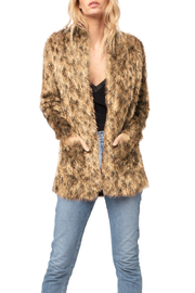 AS by DF AS BY DF LUXE LEOPARD CARDIGAN - Front cropped