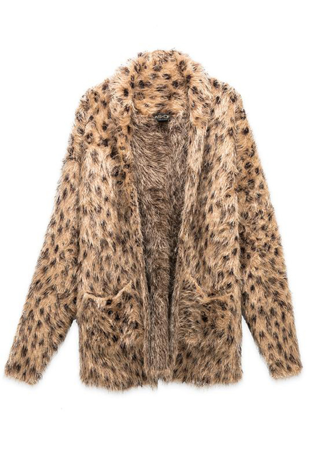 AS by DF AS BY DF LUXE LEOPARD CARDIGAN - Side Cropped Image