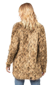 AS by DF AS BY DF LUXE LEOPARD CARDIGAN - Back cropped