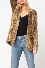 AS by DF AS BY DF LUXE LEOPARD CARDIGAN - Front full body