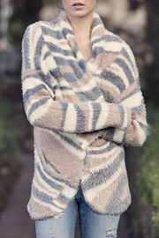 AS by DF Feather-Knit Patterned Cardigan - Product Mini Image