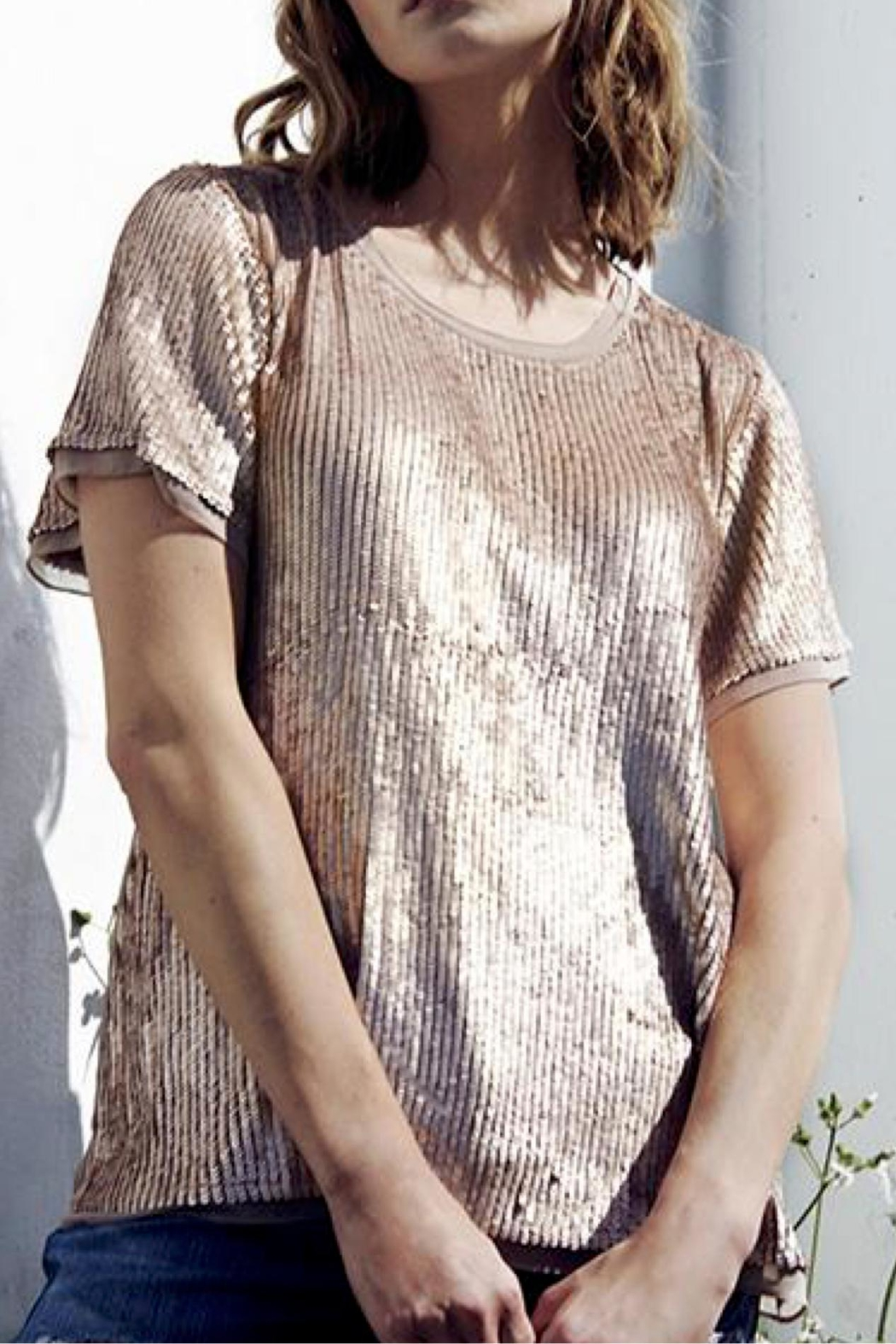 AS by DF Geneva Sequin Tee - Main Image