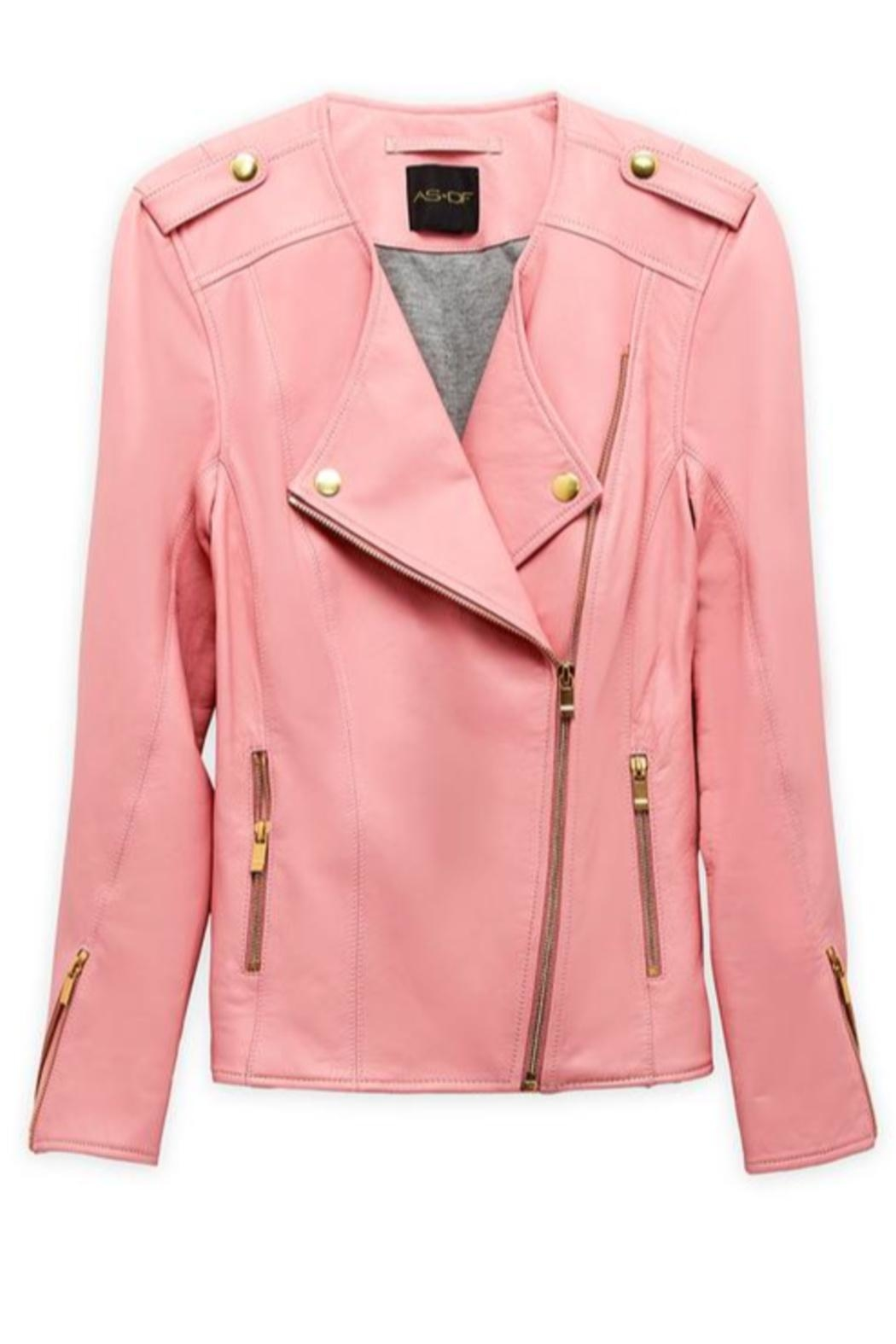 AS by DF La-Dolce-Vita Leather Jacket - Side Cropped Image