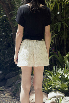 Shoptiques Product: Lace Embroidered Shorts